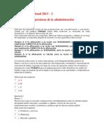 Evaluación Nacional Teorias contemporaneas de administracion - 2013 UNAD
