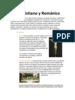 ARTE CRISTIANO Y ROMÁNICO