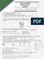 Ficha de trabalho Ainda os números - Correcção
