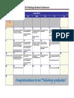 SLUSOM Pathology Resident Conference Calendar
