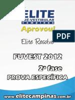 Elite Resolve Fuvest2012 2aFase ConhecimentosEspec