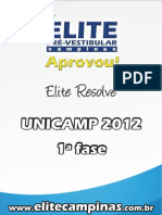 Elite Resolve Unicamp 2012-1a Fase