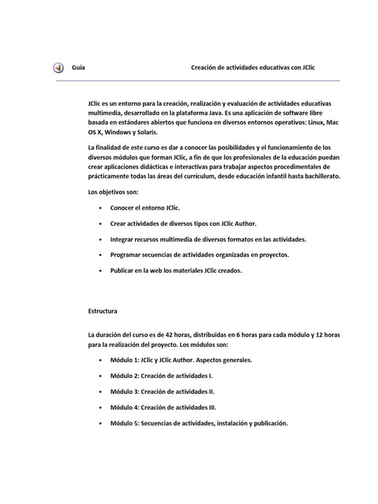 Manual Uso Jclic Win7 Java