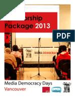 MDD 2013 Sponsorship Package