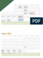 Calendario académico UCSP 2013