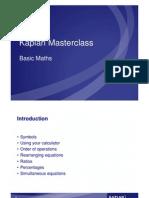 Basic Maths Student Handout