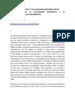 Espacios Geograficos y Localizaciones Epistemologicas Mignolo