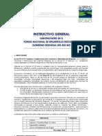 Instructivo General Subvenciones 2013