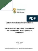 RSA- 2012 MTEF Guidelines