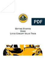 Getting Started With Lotus Concept Valve Train