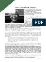 Nelson Mandela y la lucha del pueblo de Sudáfrica