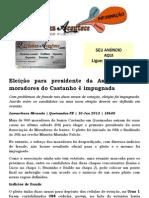 Eleição para presidente da Associação de moradores do Castanho é impugnada