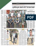 Fiscalia investiga a policia por muerte de Serrano Isaías