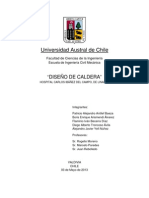 INFORME DISEÑO DE CALDERA SEGUNDO AVANCE
