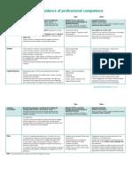 Placement Portfolio Template Professional Competence 1