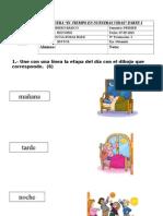 Prueba Historia Etapas Del Dia, Meses y Dias