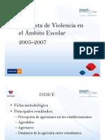 Encuesta Violencia en el ámbito escolar 2005 - 2007