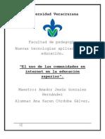Comunidades en Internet Trabajo Terminado PDF.