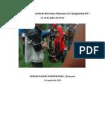 Informe sobre violación de Derechos Humanos en Changuinola del 7 al 11 de julio de 2010
