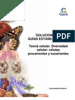 Solucionario guía práctica Teoría celular.Diversidad celular 2013