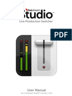 Livestream Studio  Manual