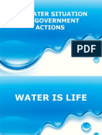 Water Situation and Government Actions (June 2013)