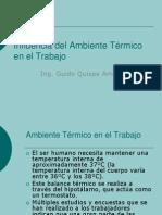 Presentación N° 11 Influencia del ambiente térmico