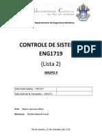 Controle de Sistemas (Lista2)