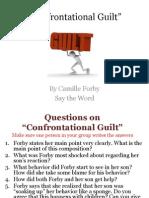 Confrontational Guilt STW Questions