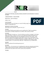 Charles Plosser Transcript June 10 2013