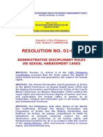 Administrative Disciplinary Rules on Sexual Harassment Cases