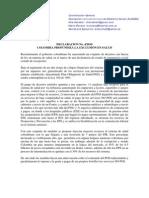 142 Co 20100516 Alames Declaracion 4-2010 Colombia Profundiza La Exclusion en Salud