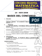 1er Concurso Regional Mat Duranmarteliana