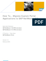 Migrate Custom Portal Applications to SAP NetWeaver 73