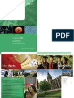 University of Manchester - Materials Brochure