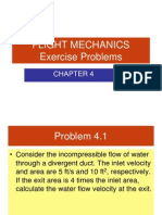 Problem exercises on aerodynamics