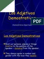 Spanish Demonstrative Adjectives