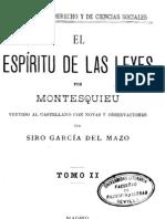El Espiritu de Las Leyes - Tomo II - Montesquieu[1]