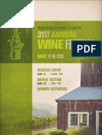 2013 Paso Robles Wine Festival Brochure