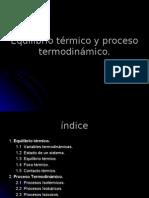 Equilibrio térmico y procesos termodinámicos