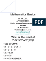 1 July Mathematics Basics