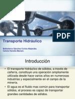 Transporte hidraulico.