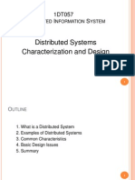 Distributed Systems Characterization and Design