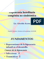 Hipoacusia Hereditaria Congenita No Sindromica
