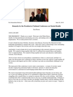 Remarks by President Obama at National Conference on Mental Health, June-03-2013
