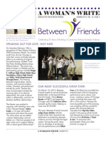 Between Friends Summer Newsletter