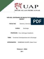 CORRIENTES SOCIOLÓGICAS CONTEMPORÁNEAS