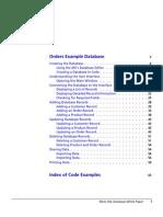 Orders Database Example