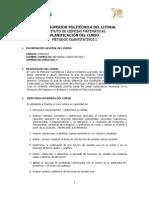 Métodos Cuantitativos I Plan de Curso