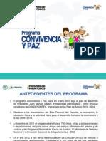 1.Presentacion Programa Convivencia y Paz - Gestor de Deporte